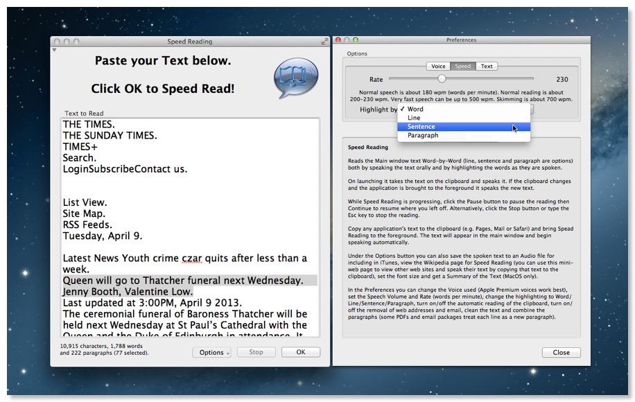 Speed Reading | Holy Mackerel Software